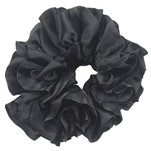 Watopi Flexibles Gummiband Einfache Hijab Volumizing Scrunchie Large Hair Bow...