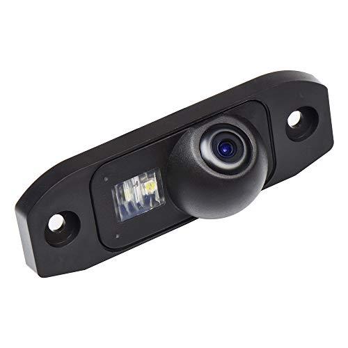 HD 720p Farb Rückfahrkamera Kennzeichenbeleuchtung Kamera Einparkhilfe mit Distanzlinien kompatibel für Volvo S90/S80L/S40L/S80/S40/S60/V60/XC90/XC60 C30/C70/S60L/V40R V50 XC70