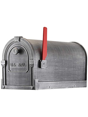 Special Lite Products SCS-1014-SW Savannah Curbside Mailbox in Swedish Silver