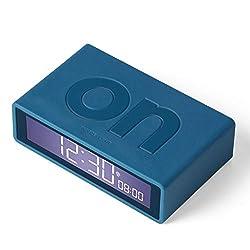 Lexon Flip Plus Reversible LCD Alarm Clock Radio Controlled - Duck Blue