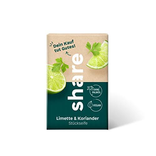 share Stückseife Limette & Koriander, vegan, 100 g