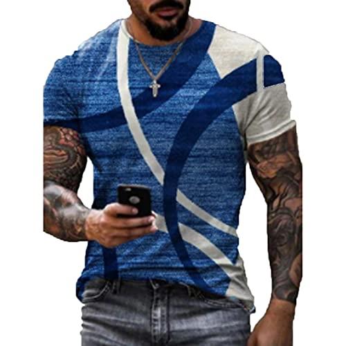 SSBZYES Heren T-Shirt Zomer Mens Korte Mouw T-Shirt Mens Katoen T-Shirt Grote Maat T-Shirt Casual Ronde Hals Mouwloos Afdrukken Lange Hedging - - 5XL