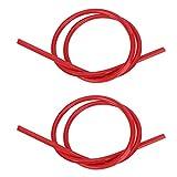 Yctze Cable de encendido, silicona siliconada 2 piezas Cable de encendido 8 mm Núcleo de carburo Cable de encendido 1 m de largo(rojo)