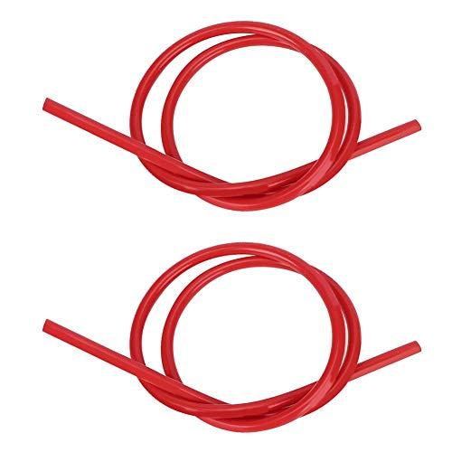 Cable de encendido de bujía, 2 piezas de cable de encendido Cable de encendido de núcleo de carburo de silicio de silicona de 8 mm (1M)(rojo)