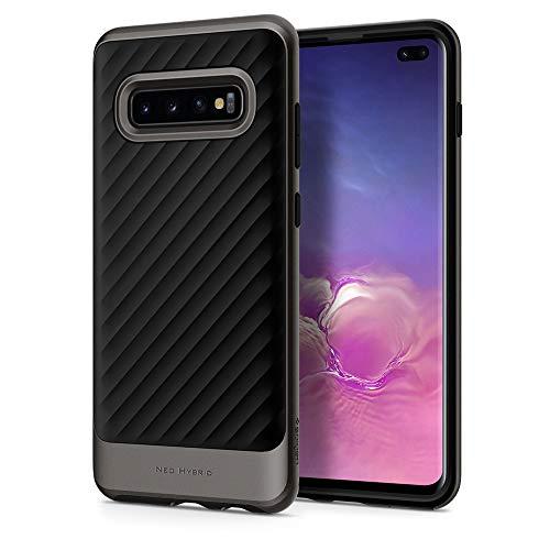 Spigen Neo Hybrid Hülle Kompatibel mit Samsung Galaxy S10 Plus -Gunmetal