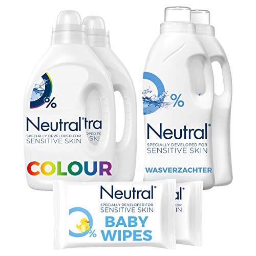 Neutral Sensitive Baby Geschenkset - Wasmiddel, Wasverzachter en Billendoekjes