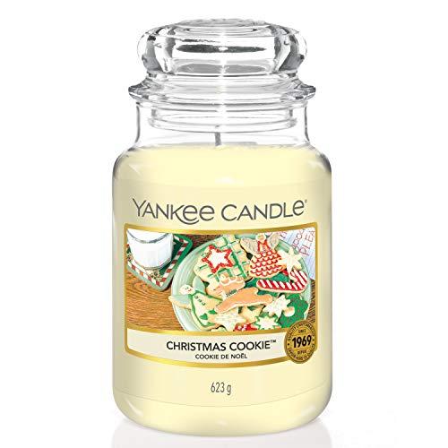 Yankee Candle Christmas Cookie Candela profumata in giara grande, Fino a 150 ore di combustione