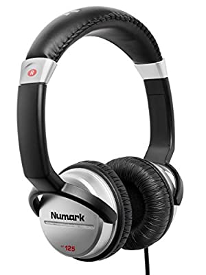 Numark HF125 | Ultra-Portable Professional DJ Headphones with 6 ft Cable, 40 mm Drivers for Extended Response & Closed Back Design for Superior Isolation