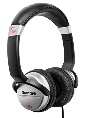 Numark HF125 - Ultra-Portable Professional DJ Headphones with 6 ft Cable,...