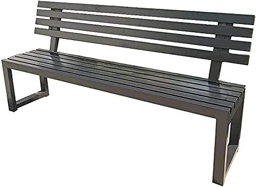 Banco al aire libre Banco de patio, muebles de porche delantero, banco de jardín de parque de terraza, banco de exterior de 2-3 asientos Sillón de metal, muebles de patio Silla de porche resisten