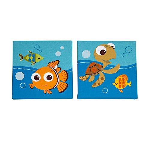 Disney Le Monde de Nemo Décoration murale 2 pièces Bleu