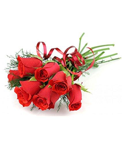 Ramo de 6 rosas rojas naturales +tarjeta personalizada – posibilidad envío 24 horas o en 48 h