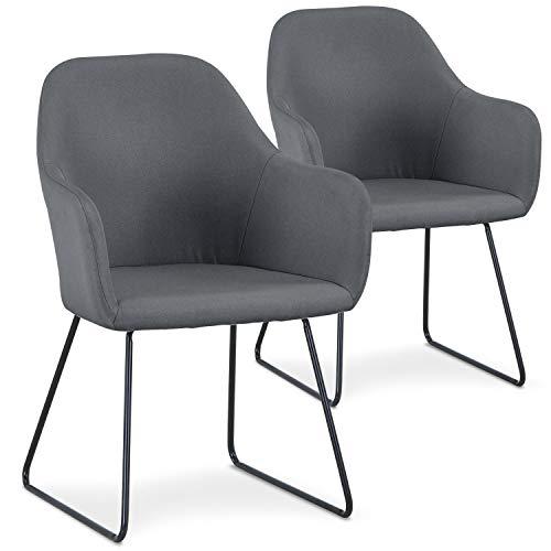 Menzzo - Sedia in acciaio inox, metallo, taglia unica