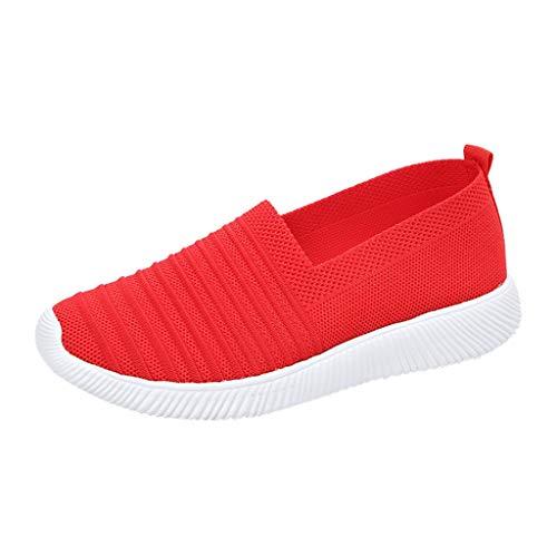 Zapatillas Deportivas para Mujer, Zapatos para Correr Deporte al Aire Libre Running Fitness Gimnasio Súper Ligeras y Antideslizante Transpirables Sneakers Calzado Casual 0204
