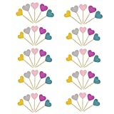 Yongbest Kuchen Dekorieren Toppers,50 Stück Cupcake Toppers Alles Gute zum Geburtstag Feier für Hochzeiten Geburtstage Partys Obst Picks Food Picks