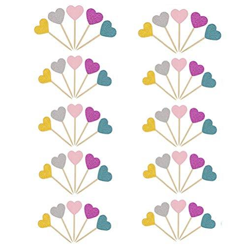 Kuchen Dekorieren Toppers,50 Stück Cupcake Toppers Alles Gute zum Geburtstag Feier für Hochzeiten Geburtstage Partys Obst Picks Food Picks