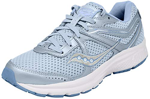 Saucony Women's Cohesion 11 Running Shoe, Fog/Blue, 10 Medium US