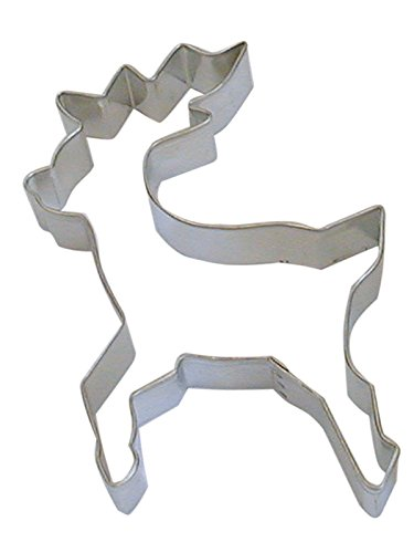 R&M Reindeer Standing 5' Cookie Cutter in Durable, Economical, Tinplated Steel