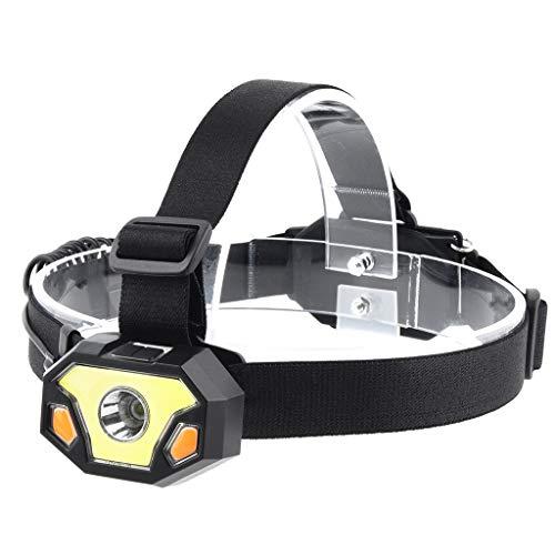 Youdong Lampe Frontale LED Puissante Torche Phare pour Course Camping randonnée Chasse pêche Lumière de Nuit lumière extérieure portative Secours Travail 3A COB Principal Fort
