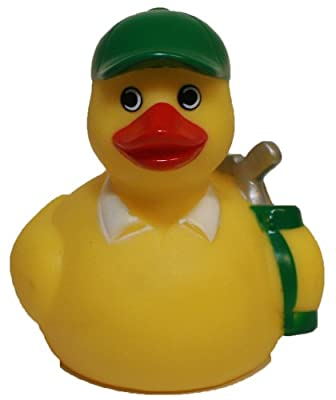 Waddlers Rubber Ducks Golf, Brand Rubber Ducks That Float Upright, Sports Golf Themed Rubber Ducky, Bathtub Rubber Toy Birthday Party All Depts. Golf Lovers