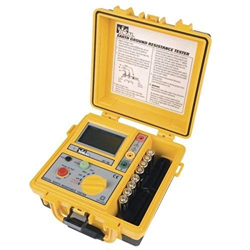 IDEAL INDUSTRIES INC. 61-796 Earth Ground Resistance Tester, 3-Pole, Carrying Case Included