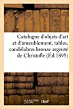 Catalogue d'objets d'art et d'ameublement, tables de style L