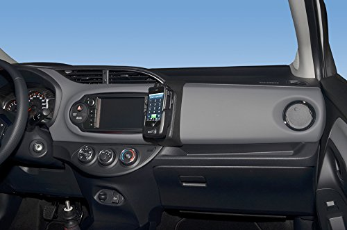 KUDA 1785 Telefonconsole (LHD) per Toyota Yaris dal 2014 in Eco Pelle Nero
