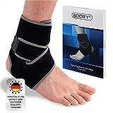 Bodify® Fußbandage – Schmerzlindernde Sprunggelenkbandage – Knöchel...