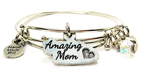 Amazing Mom 2 Piece Bangle Set Chubby Chico Charms Exclusive