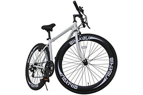 NEXTYLE  700Cクロスバイク アルミフレーム シマノ7段変速 ディープリム 前輪クリックリリースNEXTYLE B00N8G2EX4 1枚目