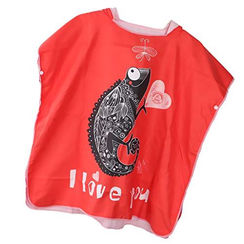 B Blesiya Albornoz Impermeable Capa con Capucha Diseño Personalizado para Niños - Rojo m