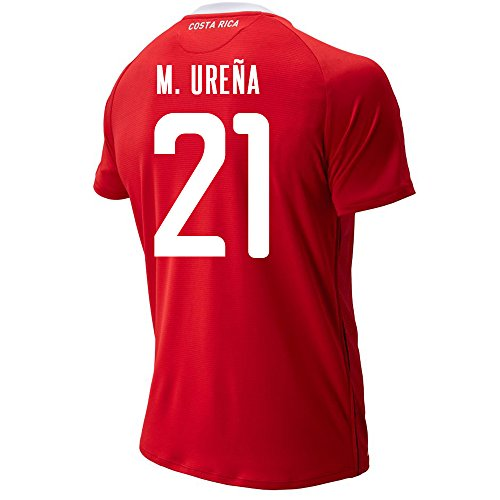 New Balance M. UREÑA #21 Costa Rica Home Soccer Men's Jersey FIFA World Cup Russia 2018 (S) Red