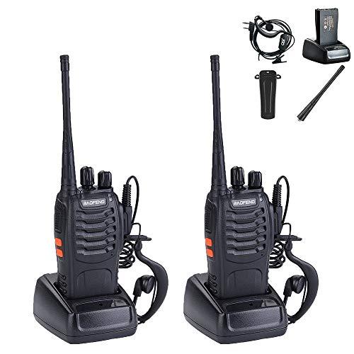 Rechargeable Walkie Talkies Long Distance, Professional Handheld Wireless 2...