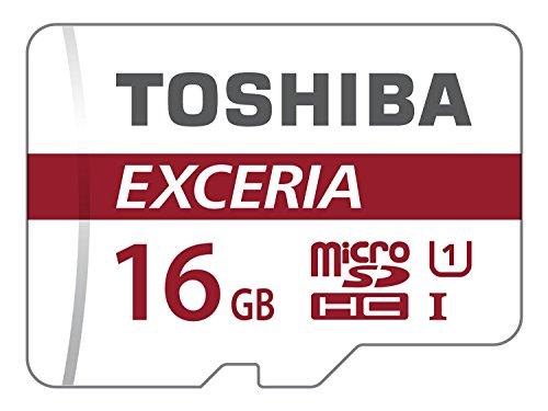 Toshiba Exceria M302 - Tarjeta de memoria (MicroSDHC, 16 GB, UHS-I, Class 10), color blanco