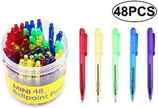SKKSTATIONERY 48 Pcs Mini Ballpoint Pens, 4