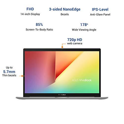 ASUS VivoBook S S14 Intel Core i7-1165G7 11th Gen, 14-inch FHD Thin and Light Laptop (8GB RAM/512GB SSD + 32GB Optane Memory/Windows 10/Office 2019/Iris Xᵉ Graphics/Indie Black/1.4 Kg), S433EA-AM701TS