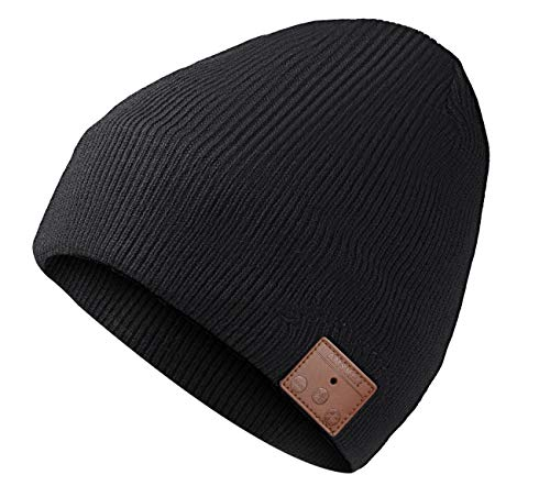 Beanie with Bluetooth Upgraded Version 5.0, Bluetooth Beanie Hat for Men with Stereo Speakers & Microphone, Unique Christmas Gift for Men, Teenager, Women, Dad, Mom