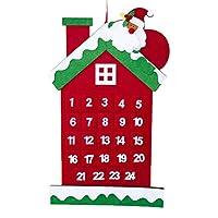 Abbastanza grande da essere notato, ma facile da mettere in qualsiasi spazio. 24 giorni staccabili DIY ornamenti per Natale calendario dell'avvento Da appendere, un modo divertente per aiutare i vostri bambini a fare il conto alla rovescia per Natale...