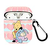 OAbear Pooh and Eeyore AirPods Airpods 1/2 Case Cover Cute Bluetooth Headset Shell for Women