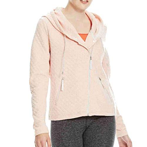 Bench Damen Quilted Zip Through Kapuzenjacke, Coral Pink Marl, M
