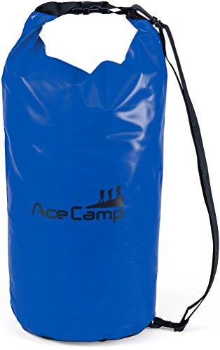 AceCamp wasserdichter Packsack Daypack schwimmfähig mit Tragegurt 47 x 21 cm, 10 Liter, Blau, 24606