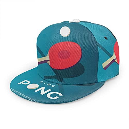 Sombrero de Ping Pong Gorra de béisbol Tenis de mesa Pelota deportiva Competencia china Sombreros ajustables de color rojo y plano Snapback Sombrero de pelota Sombrero deportivo para hombres y