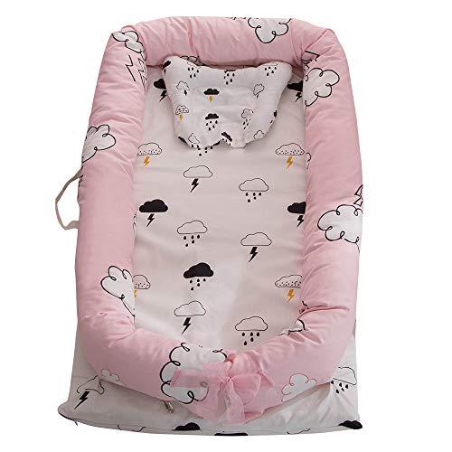 Tickas Baby-Stubenwagen Für Bett,Babyliege Tragbare Kinderbett Für Bett Co-Sleeping Wiegenliege Neugeborenen Sleeper 100% Baumwolle Super Soft Atmungsaktiv Waschbar Wolke