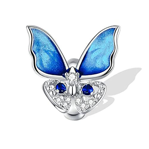 Abalorio para mujer, de plata de ley 925, diseño de oso de girasol, de silicona, compatible con pulseras de estilo europeo Pandora, Cristal S925.,