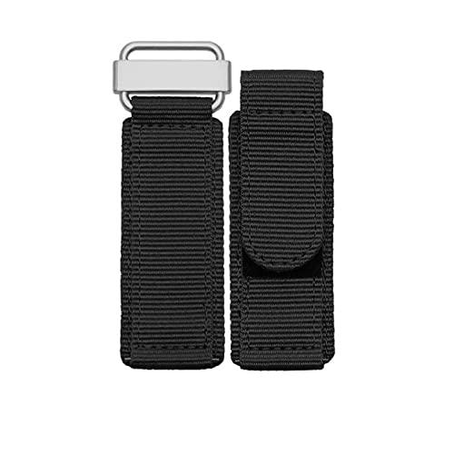 AFAY Bandas de reloj de 22 mm 24 mm de lona de tela de nailon compatible con reloj Seiko Rolex Correas universales para correa de reloj, reloj de hombre, pulsera de nailon
