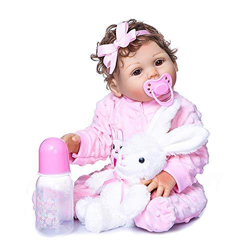 Festnight 470mm de Cuerpo Completo de Silicona Reborn Baby Doll Impermeable bebé baño Juguete bebé niños Moda muñeca Regalo