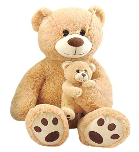 Jumbo Teddy Bear Plush - Mama & Baby, 24'