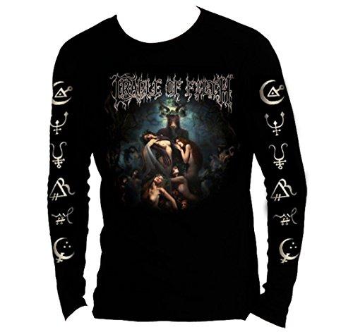 T-Shirt Officiel Cradle of Obscénité ~ Marteau des sorcières L/Sleeve Toutes Les Tailles - Noir - Medium