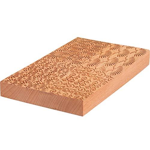 Umora 和菓子 製菓 木製板 練りきり型 和菓子用器具 製菓用品 キッチン 手作り 生菓子 ねりきり 菓子型 木型 木彫 千筋板 練り切り(4種類の木彫千筋板B)