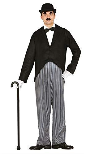 Guirca Halloween Disfraz Adulto Actor Mudo T/52-54, Multicolor (80595)